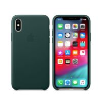 Чехол Apple Leather Case для Apple iPhone XS (Forest Green)
