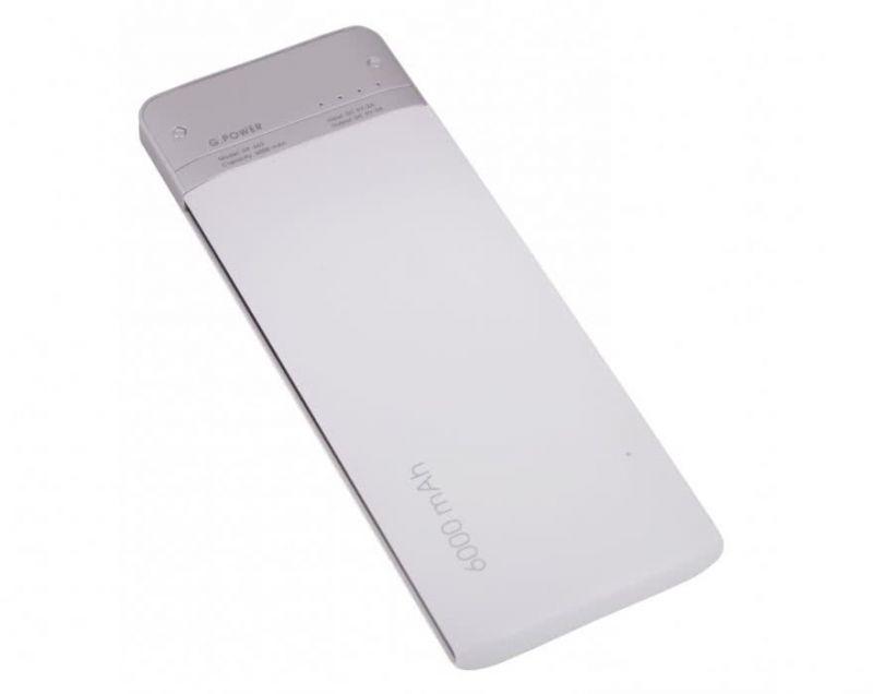 Портативный аккумулятор 6000mAh Global DP662 White купить