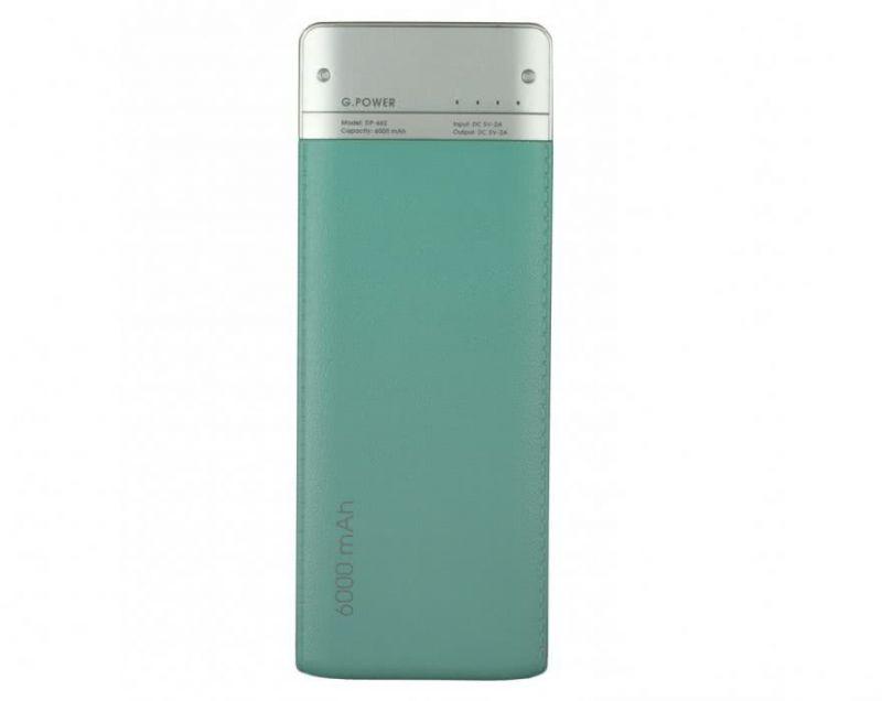 Портативний акумулятор 6000mAh Global DP662 (1283126470479) Turquoise купить