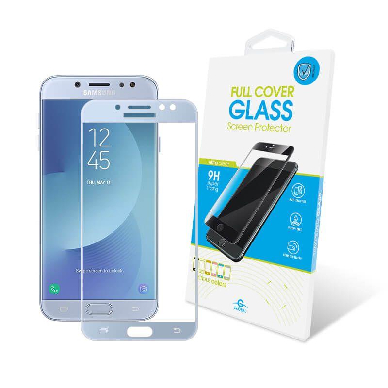 Защитное стекло Global Full Cover для Samsung Galaxy J7 2017 (Blue)