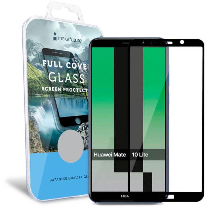 Захисне скло MakeFuture Full Cover для Huawei Mate 10 Lite (Black) купить