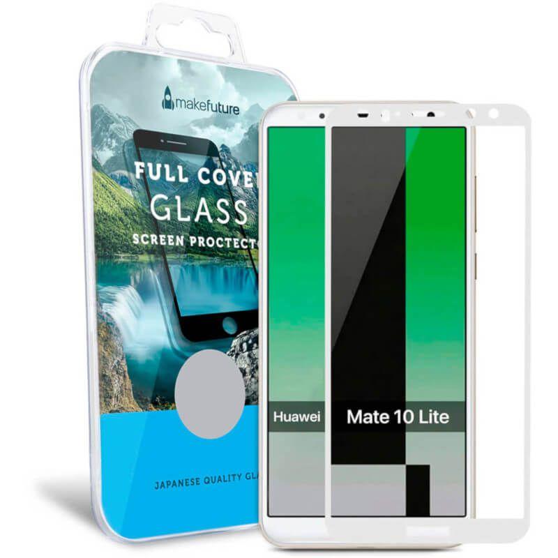 Защитное стекло MakeFuture Full Cover для Huawei Mate 10 Lite (White) купить