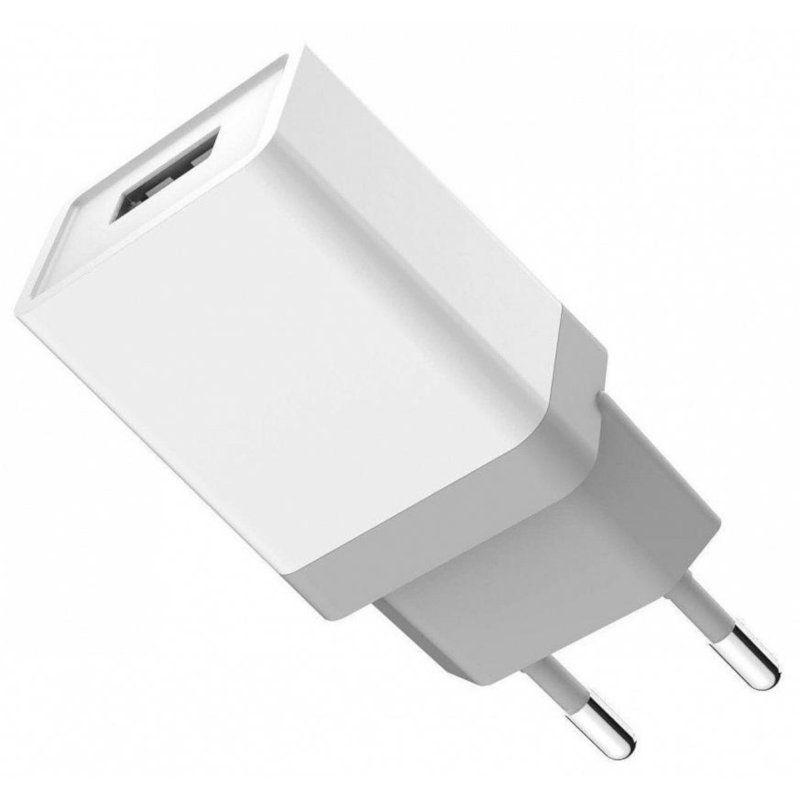 Сетевое зарядное устройство Golf GF-U1 charger + Micro cable 1USB 1A White