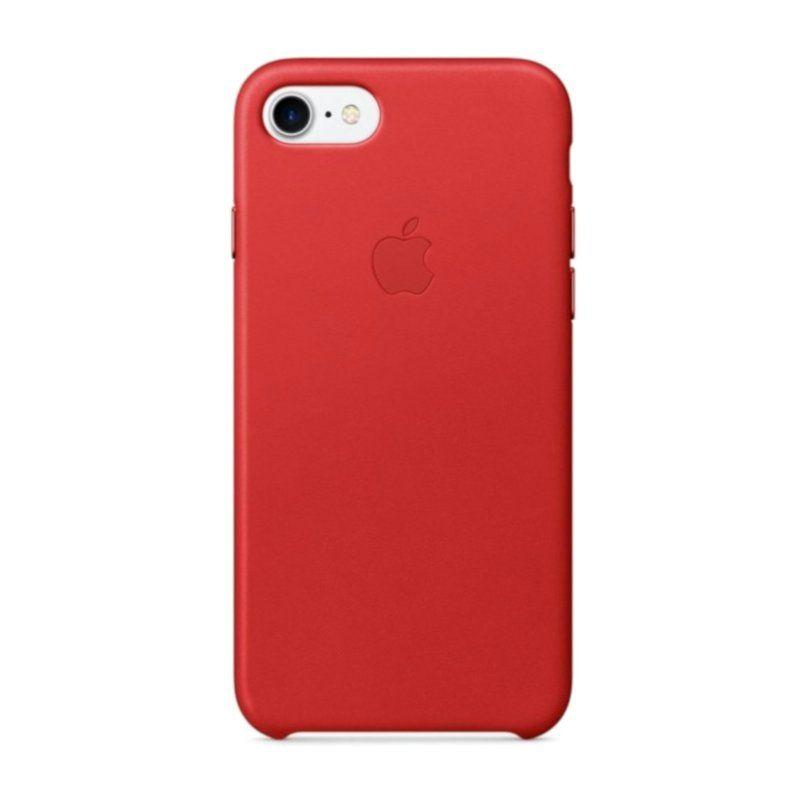 Чехол Apple Leather Case для iPhone 8/7 (Red)