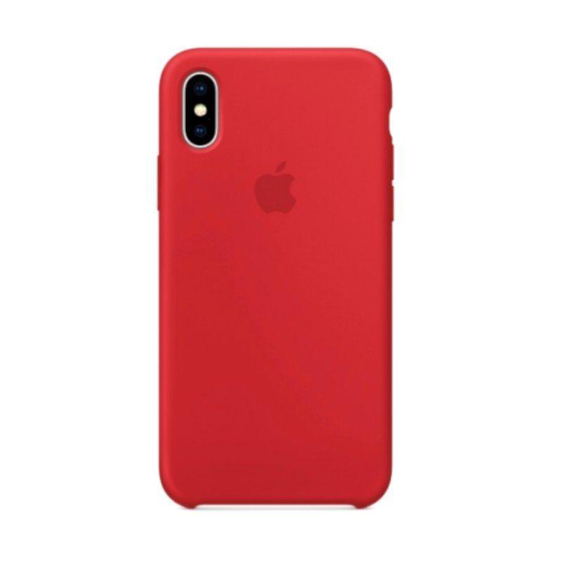 Чехол Apple Silicone Case для iPhone X (Red) купить