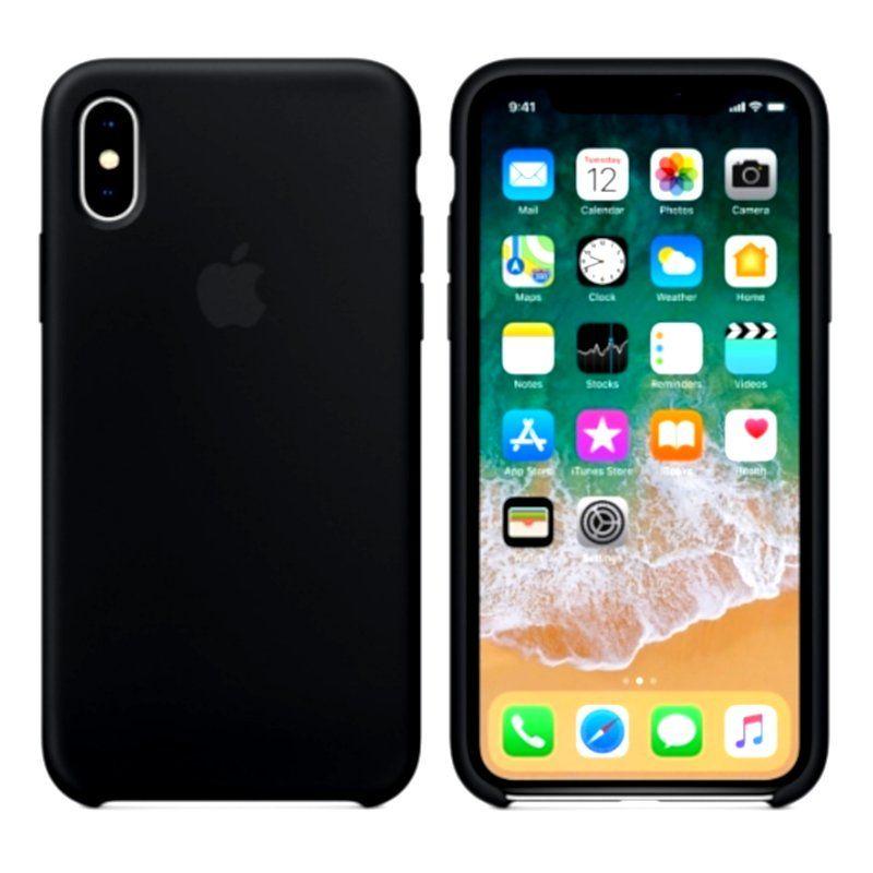 Чехол Apple Silicone Case для iPhone X (Black)