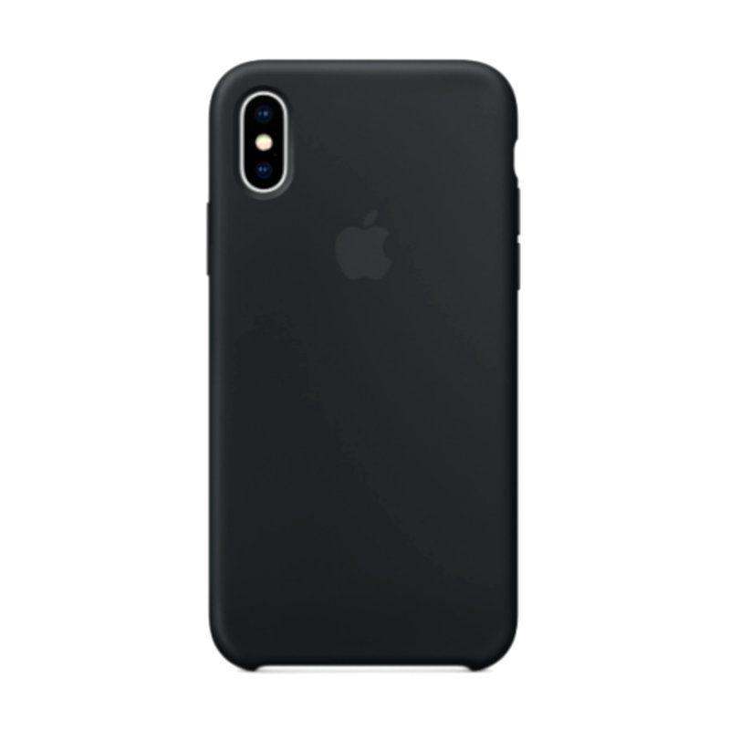 Чехол Apple Silicone Case для iPhone X (Black) купить