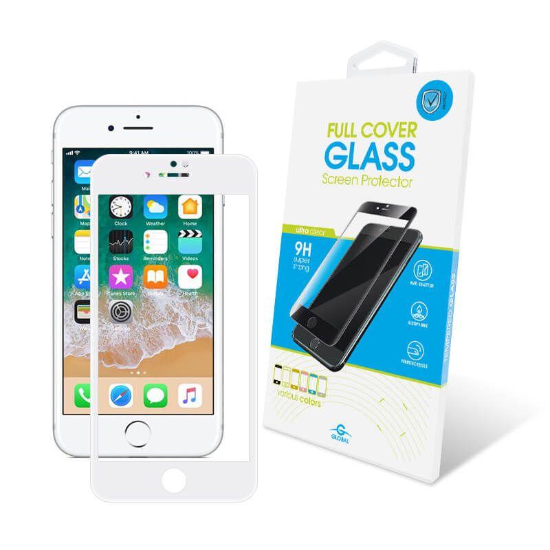 Защитное стекло Global Full Cover для Apple iPhone 7/8 Plus (White)