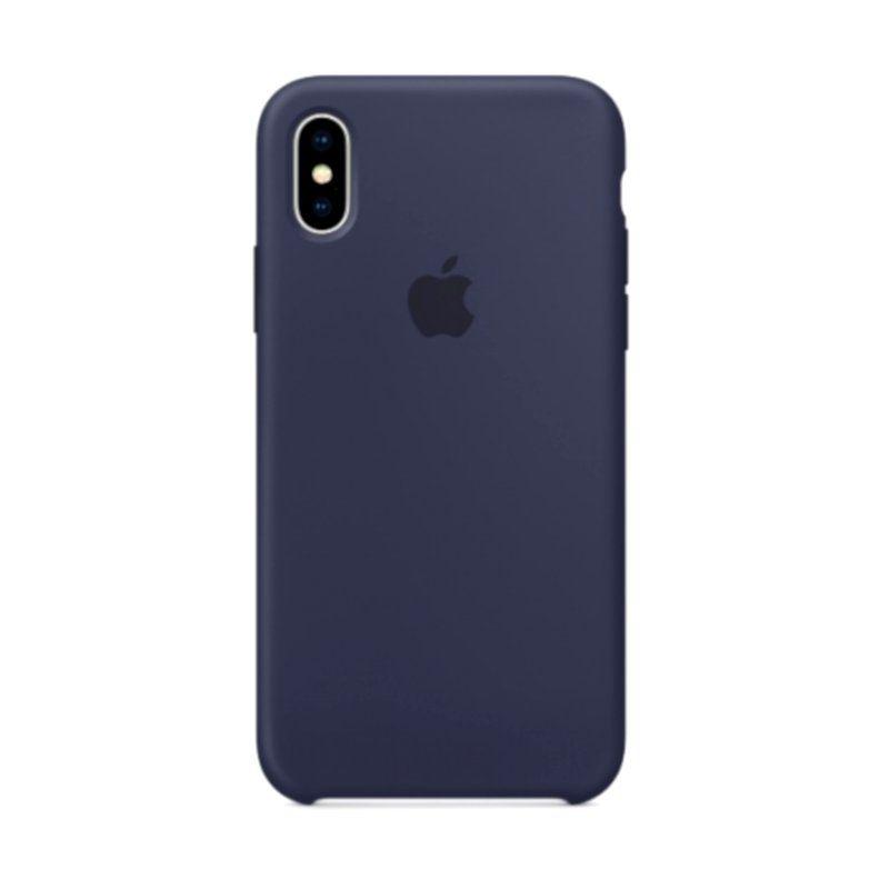 Чехол Apple Silicone Case для iPhone X (Midnight Blue) купить