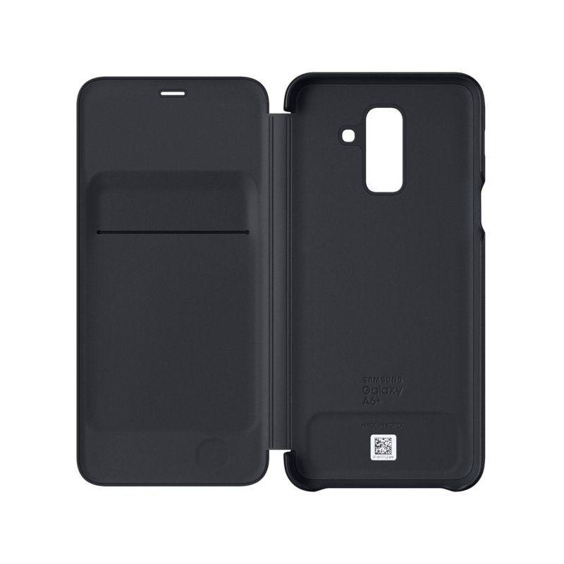 Чехол Samsung Flip Wallet для Galaxy A6 Plus 2018 (Black) недорого