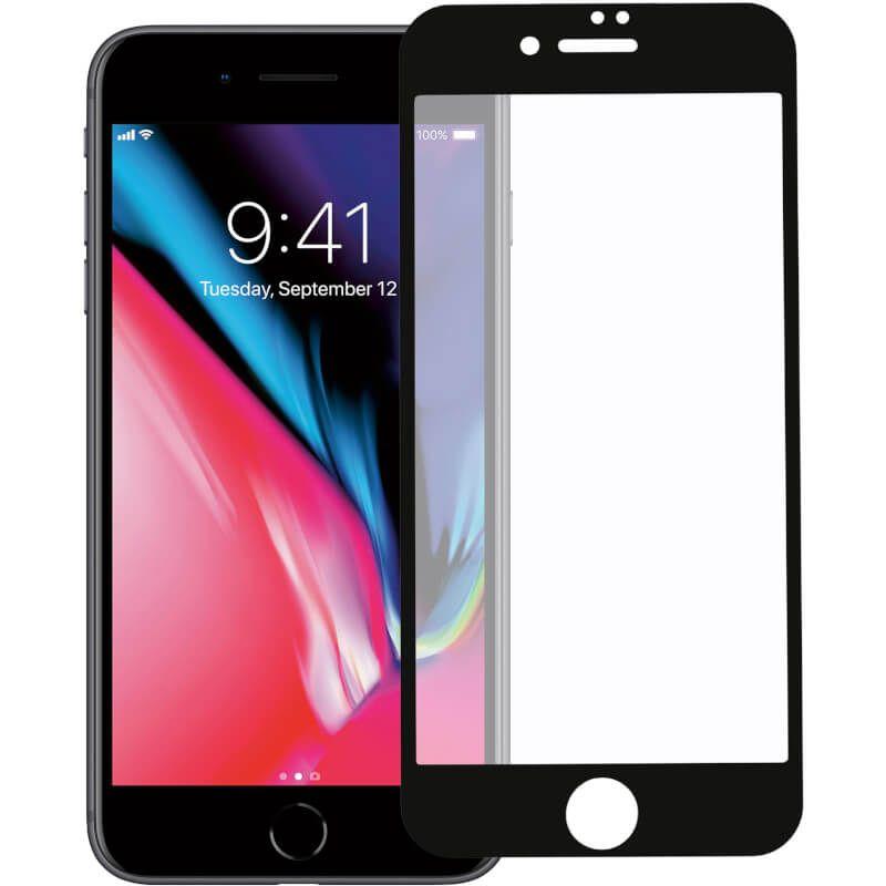 Защитное стекло iSG Glass 3D для Apple iPhone 7/8 (Black)