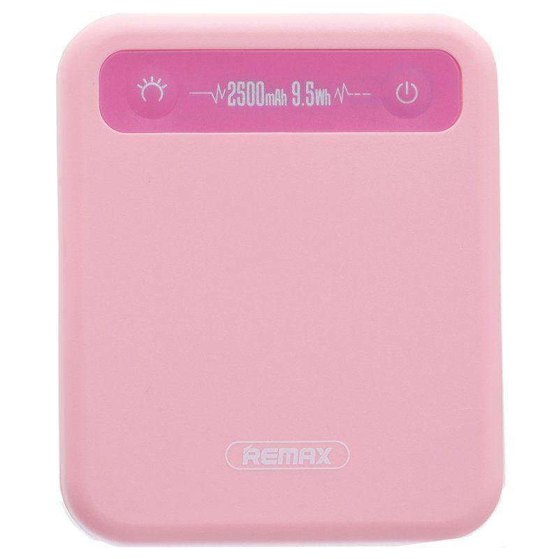 Портативный аккумулятор 2500mAh Remax RPP-51 Pino Pink