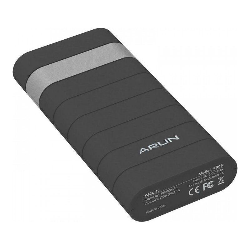 Портативный аккумулятор 12500mAh Arun Y305 (64491) Black