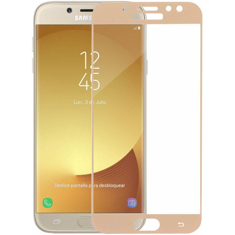 Защитное стекло MakeFuture Full Glue для Samsung Galaxy J7 2017 (Gold)