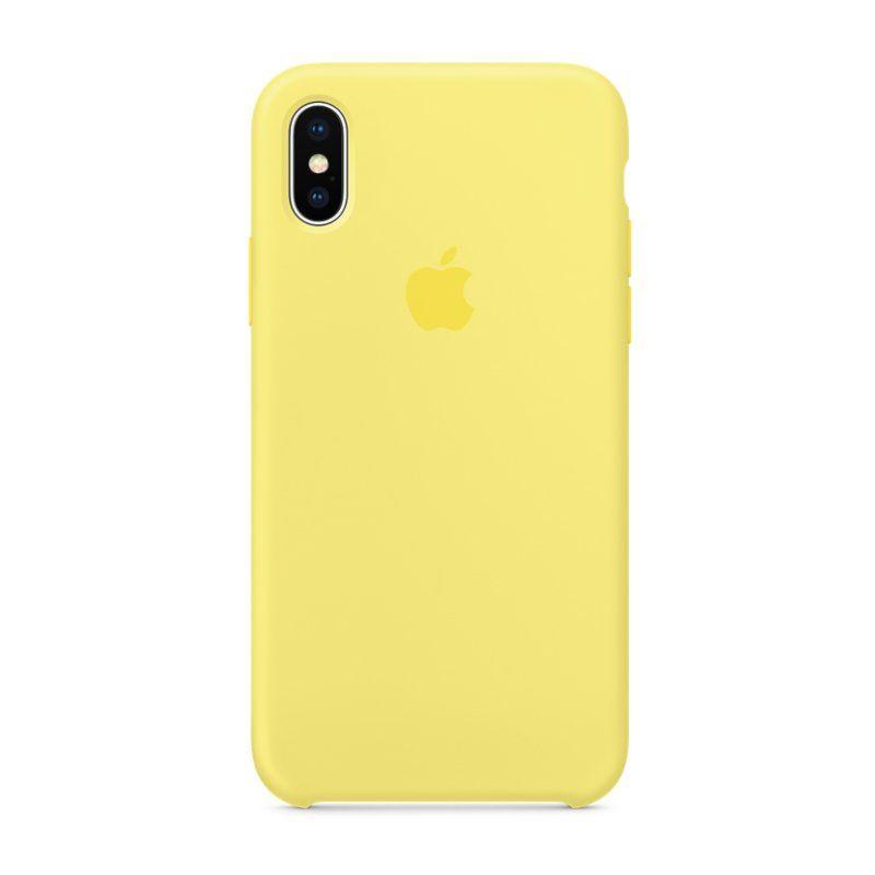 Чехол Apple Silicone Case для iPhone X (Lemonade) купить