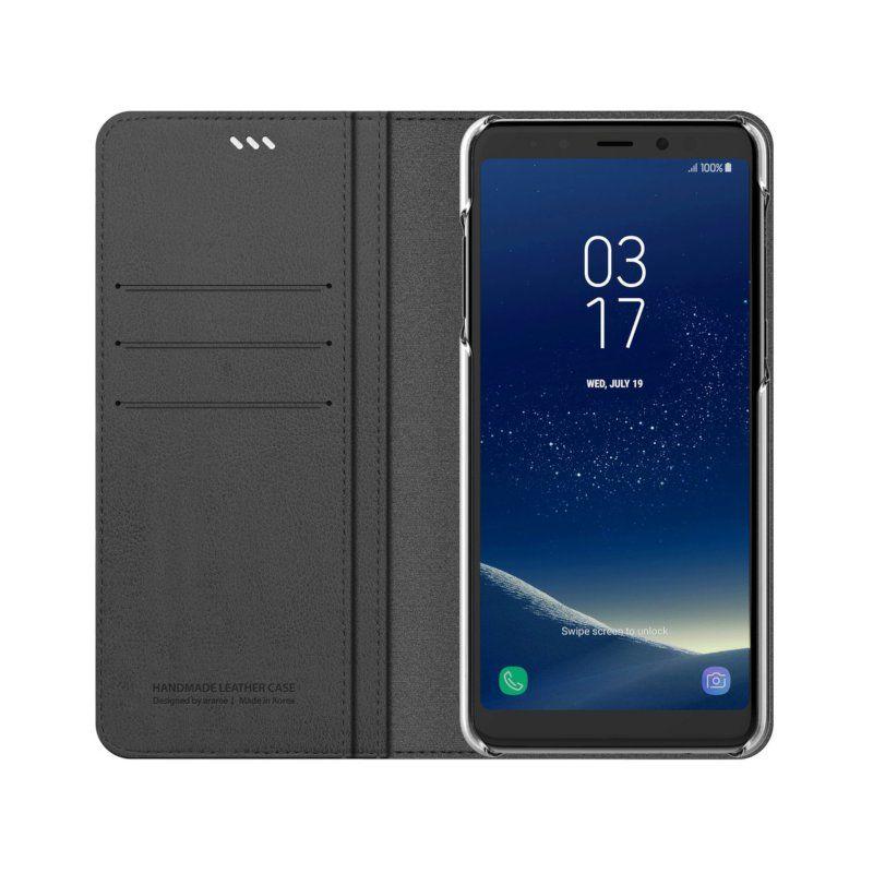Чехол Araree Mustang Diary для Samsung A8 Plus 2018 Gray недорого