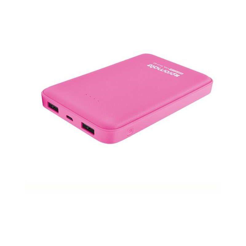Портативний акумулятор 10000mAh Promate Voltag-10 Pink