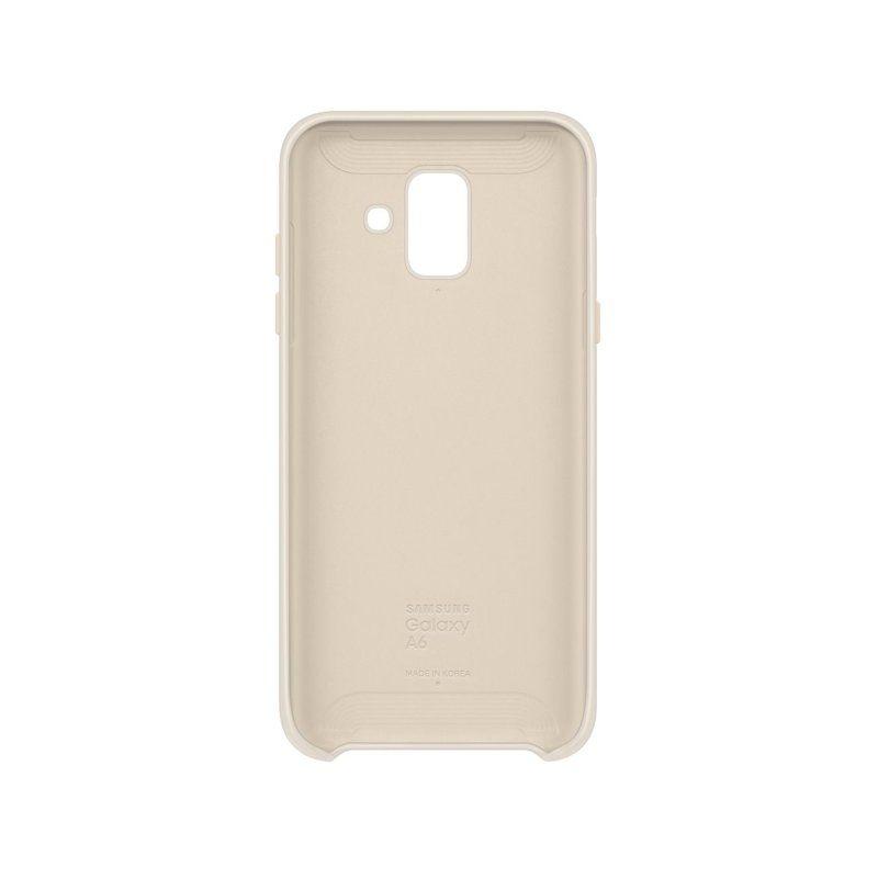 Чехол Samsung Dual Layer Cover для Galaxy A6 2018 (Gold) купить