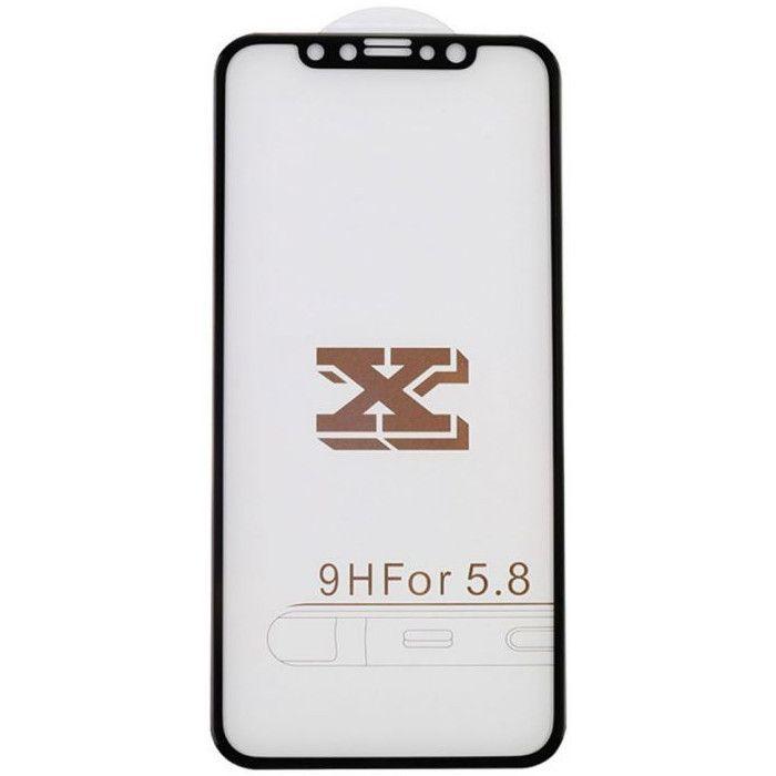 Защитное стекло MiaMI 4D для Apple iPhone X (Black)