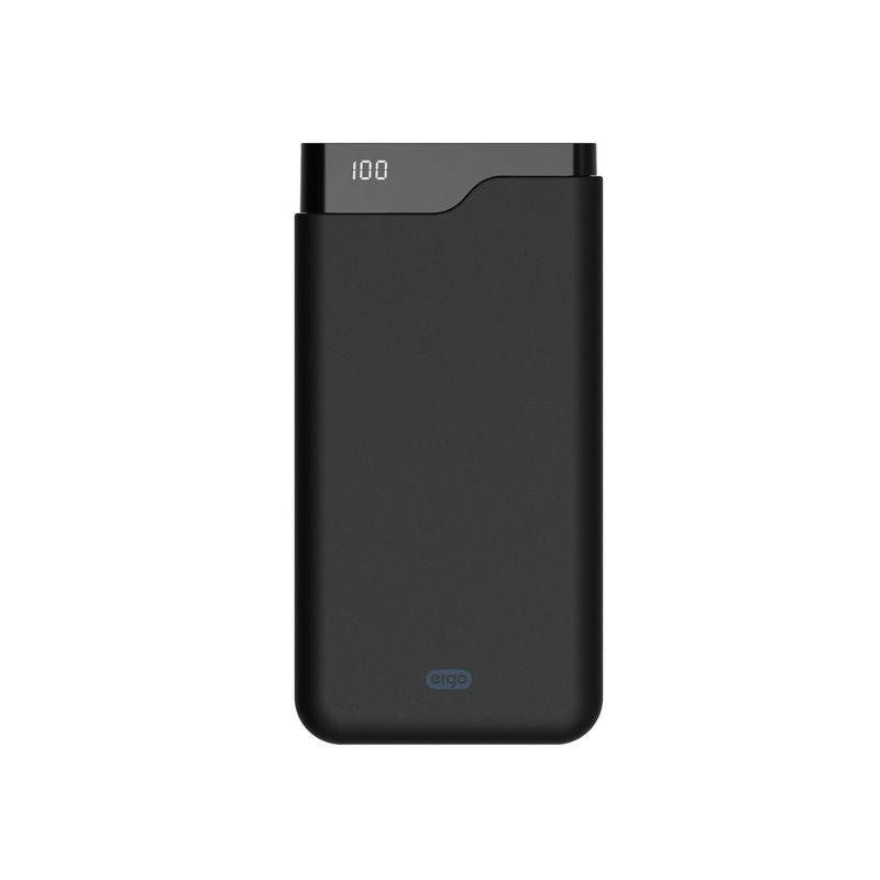 Портативный аккумулятор 12000mAh Ergo LI-U6 Li-ion Type-C Rubber Black купить