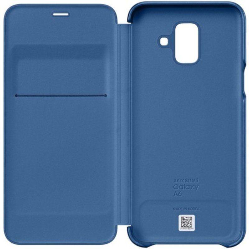 Чехол Samsung Wallet Cover для Galaxy A6 2018 (Blue) купить