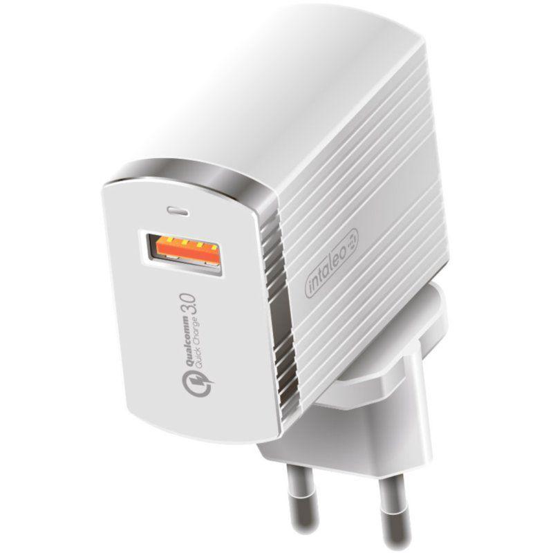 Сетевое зарядное устройство Intaleo TCQ431 1USB 3A (1283126481123) White
