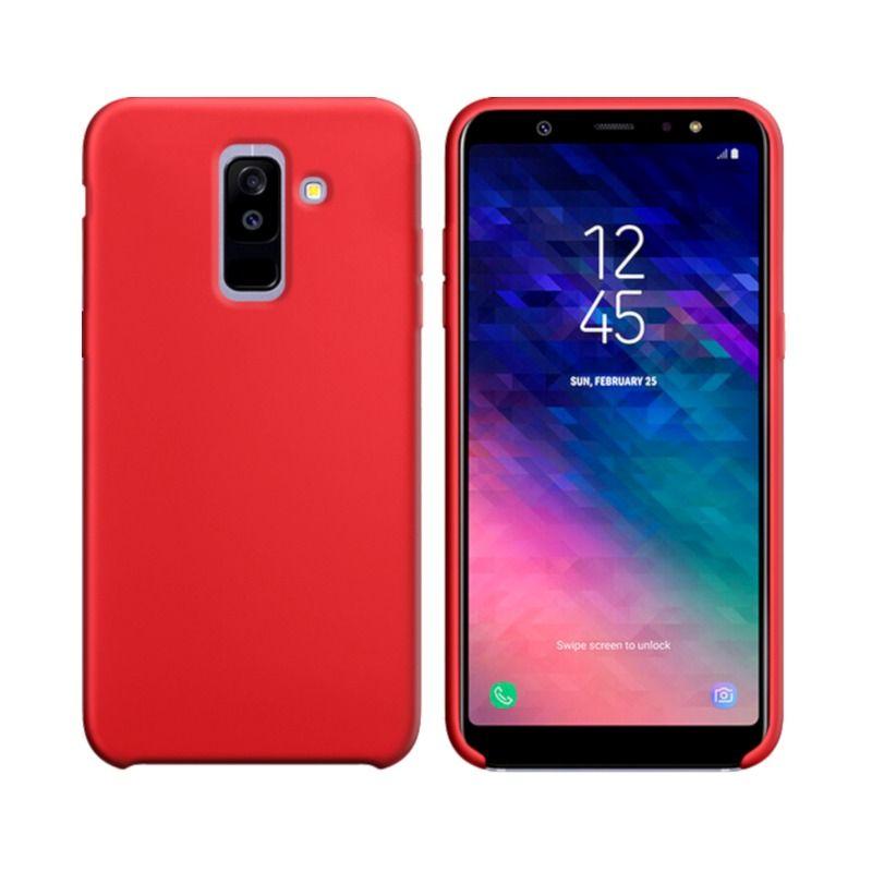 Чехол Intaleo Velvet для Samsung Galaxy A6 Plus 2018 Red