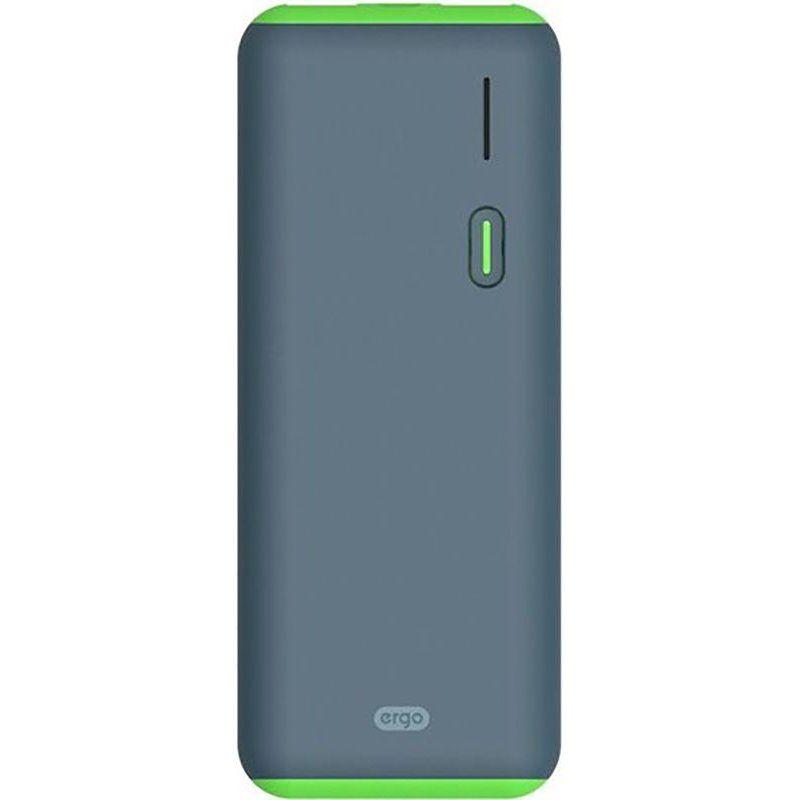 Портативный аккумулятор 12500mAh Ergo LI-S86 Li-ion Rubber Gray