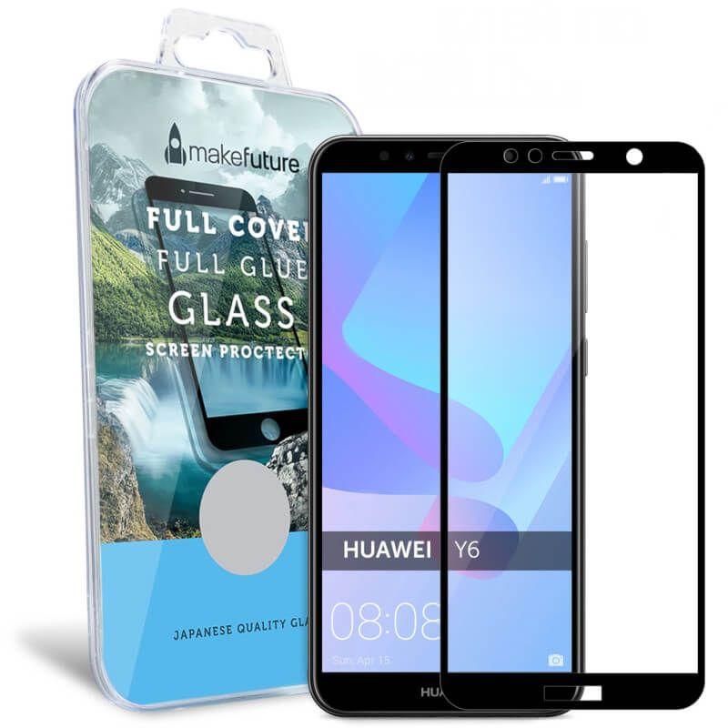 Защитное стекло MakeFuture Full Glue для Huawei Y6 2018 (Black)