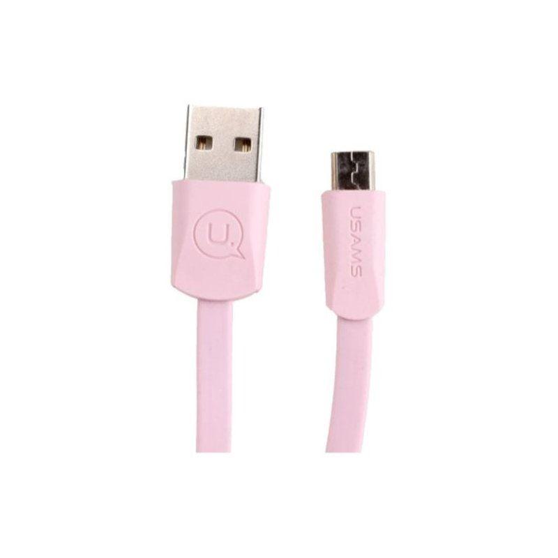 Кабель Usams MicroUSB SJ201 (SJ201MIC05) Pink
