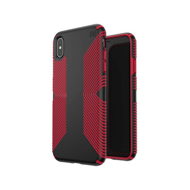 Чохол Speck Presidio Grip для Apple iPhone XR (Black-Dark Poppy Red) недорого
