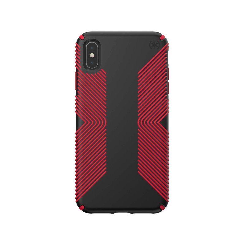 Чохол Speck Presidio Grip для Apple iPhone XR (Black-Dark Poppy Red)
