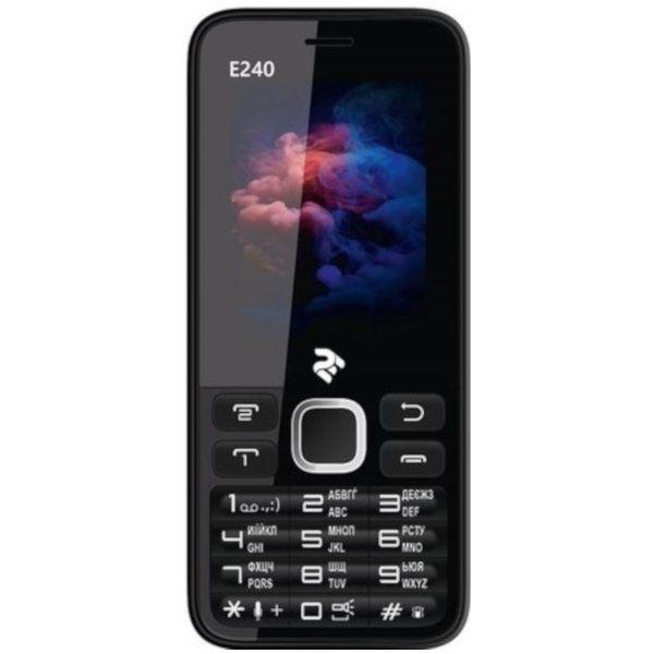 Мобильный телефон TWOE E240 Dual Sim Black-White
