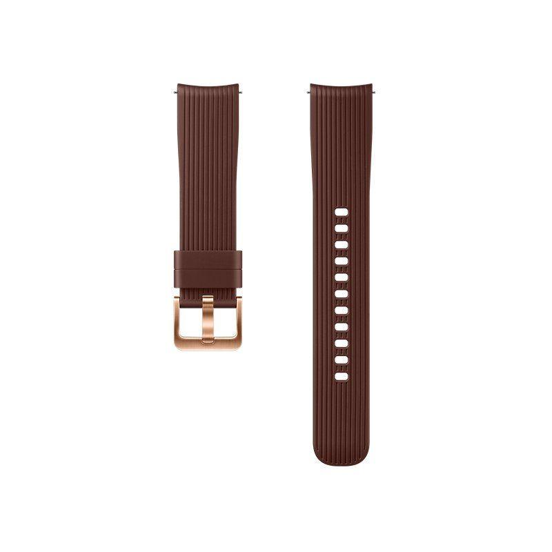 Ремешок для смарт-часов Samsung Silicone Band for Galaxy Watch 42mm (ET-YSU81MAEGRU) Brown купить