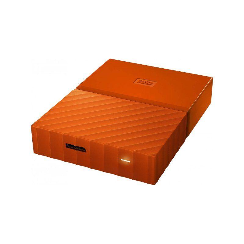Внешний жесткий диск 4Tb Western Digital My Passport (WDBYFT0040BOR-WESN) Orange купить
