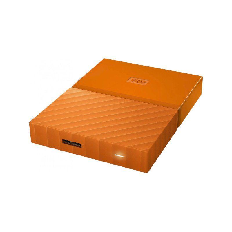 Внешний жесткий диск 1Tb Western Digital My Passport (WDBYNN0010BOR-WESN) Orange купить