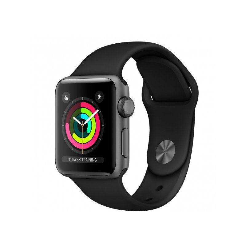Смарт-часы Apple Watch Series 3 38mm GPS (MQKV2) Space Grey Aluminium Case with Black Sport Band купить