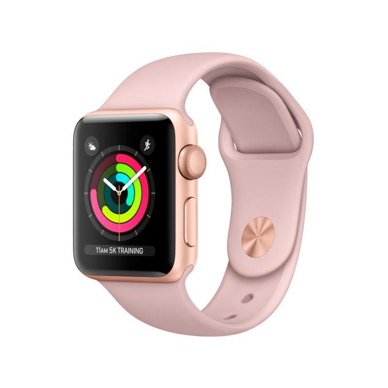 Смарт-часы Apple Watch Series 3 38mm GPS (MQKW2) Gold Aluminium Case with Pink Sand Sport Band купить