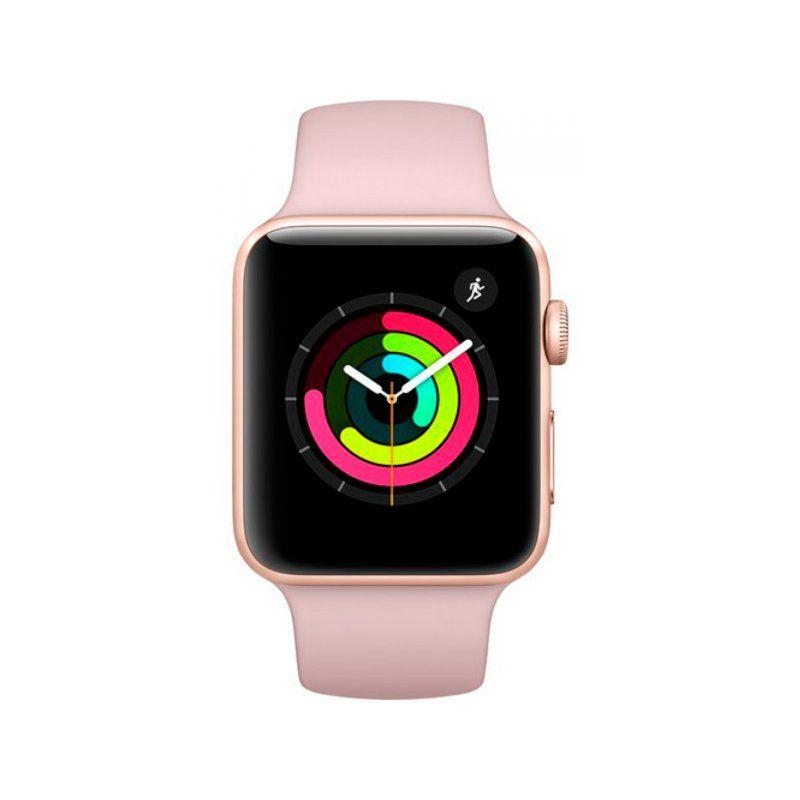 Смарт-часы Apple Watch Series 3 38mm GPS (MQKW2) Gold Aluminium Case with Pink Sand Sport Band