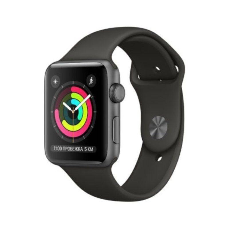 Смарт-часы Apple Watch Series 3 38mm GPS (MR352) Space Grey Aluminium Case with Grey Sport Band купить