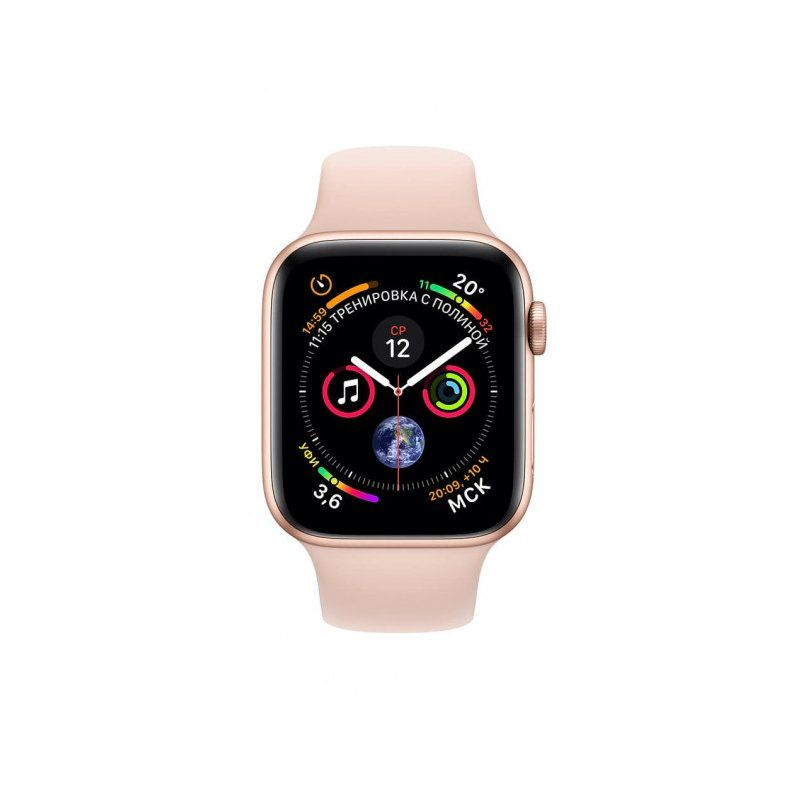 Смарт-часы Apple Watch Series 4 40mm GPS (MU682) Gold Aluminum Case with Pink Sand Sport Band