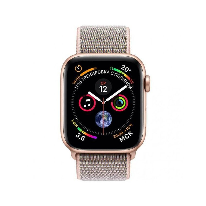 Смарт-часы Apple Watch Series 4 44mm GPS (MU6G2) Gold Aluminum Case with Pink Sand Sport Loop