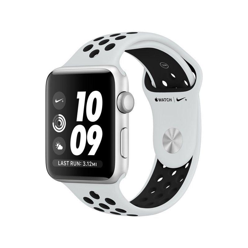 Смарт-годинник Apple Watch Series 3 Nike+ 42mm GPS (MQL32) Silver Aluminum Case with Pure Platinum Black Nike Sport Band купить