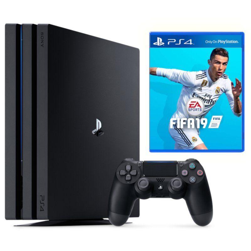 Игровая приставка Sony PlayStation 4 Pro 1TB + игра FIFA 19