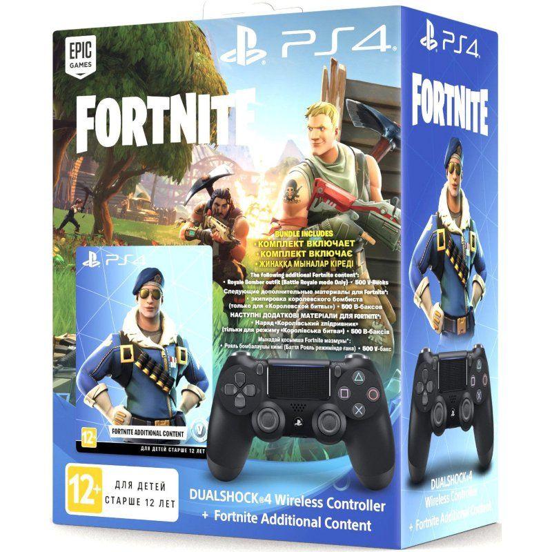 Беспроводной геймпад Sony PlayStation Dualshock v2 Jet Black (Fortnite)