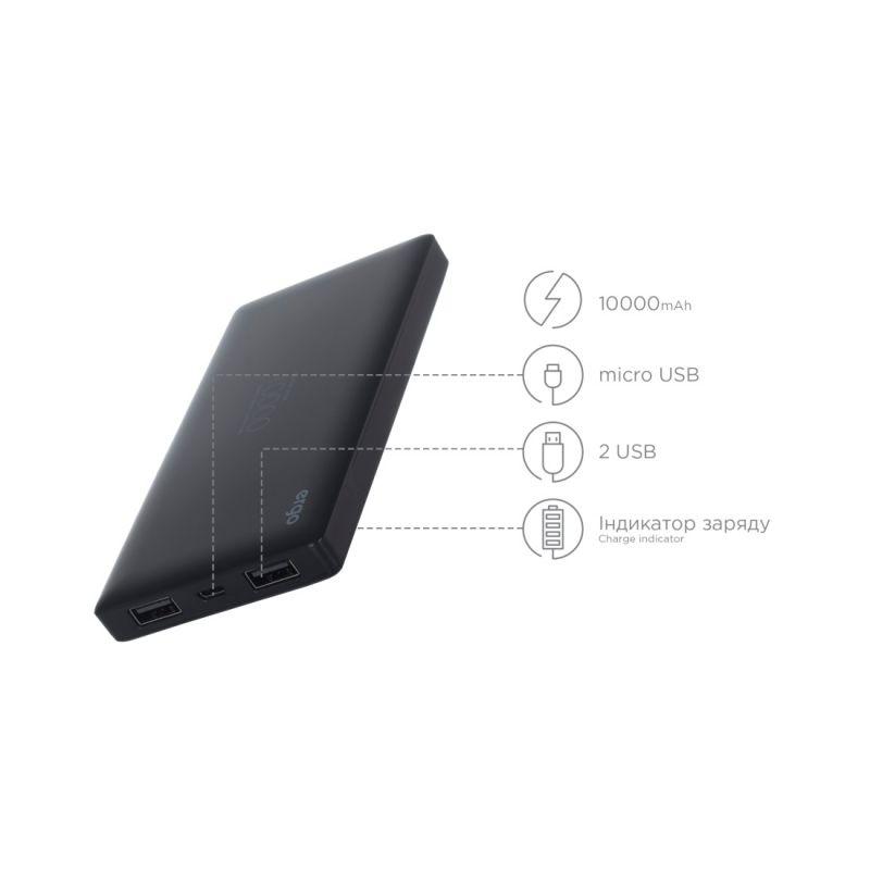 Портативний акумулятор 10000mAh Ergo LP-83 Black Vodafone