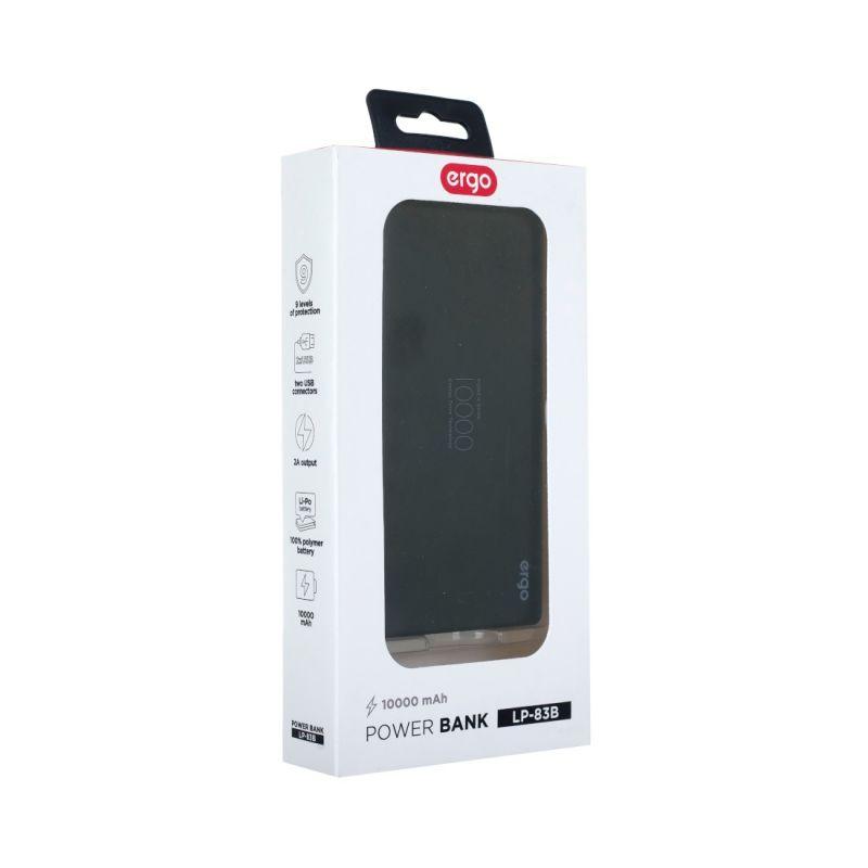 Портативний акумулятор 10000mAh Ergo LP-83 Black цена