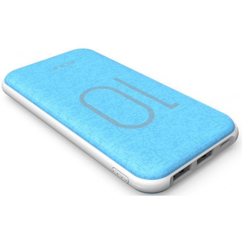 Портативный аккумулятор 10000mAh Golf G26 3.1A Li-pol Blue