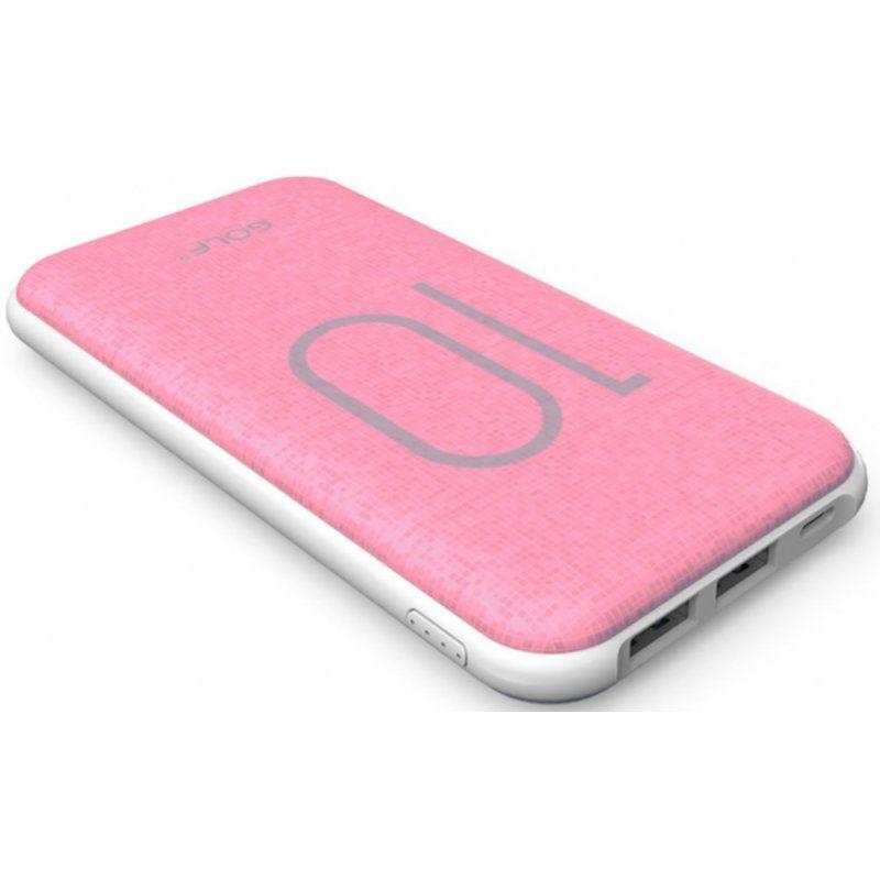 Портативный аккумулятор 10000mAh Golf G26 3.1A Li-pol Pink