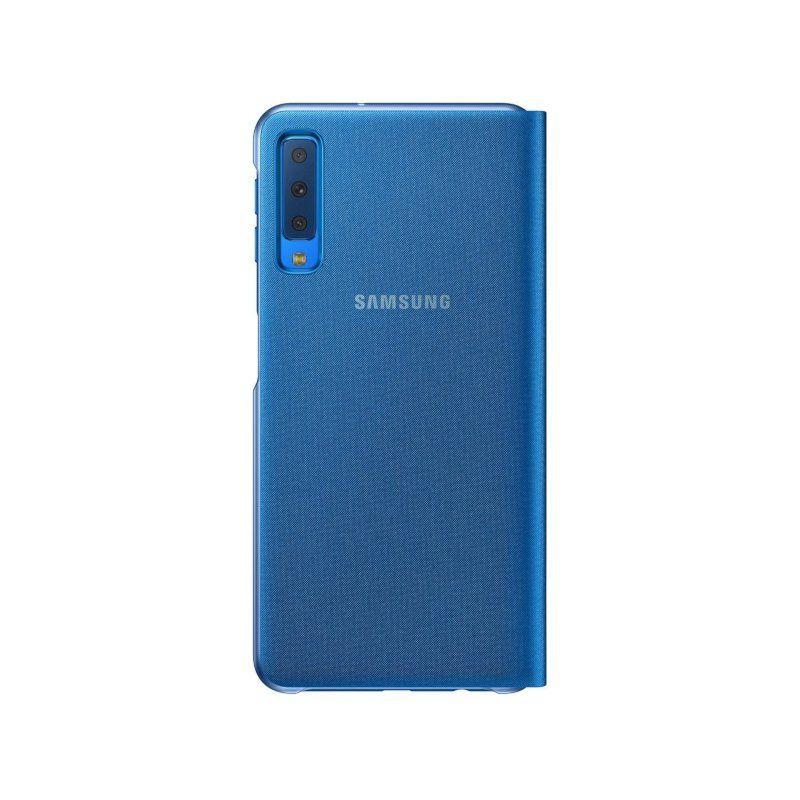 Чехол Samsung Wallet Cover для Galaxy A7 2018 (Blue)